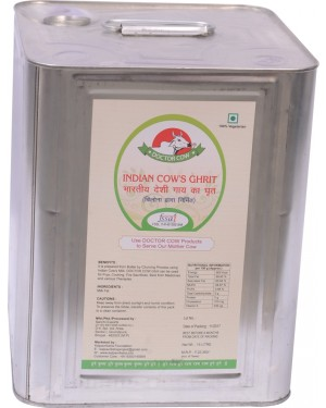 DR. COW Indian Cow's Ghrit Tin (15 Ltrs.)