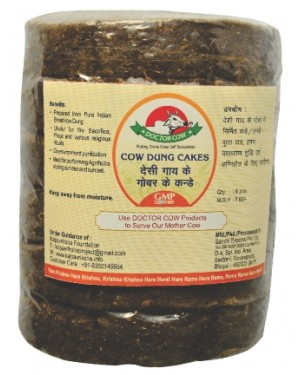 DR. COW Cow Dung Cakes - Big ( 6 pcs )